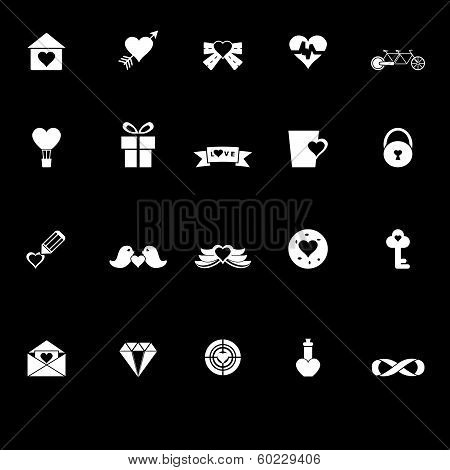 Love And Heart Icons With Reflect On Black Background