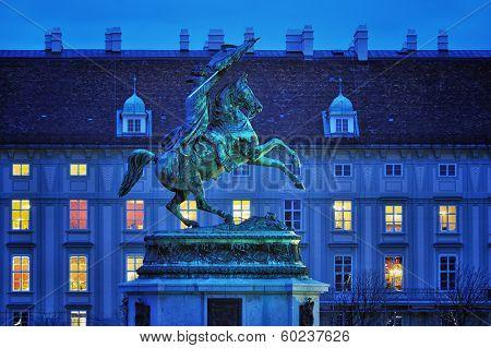 Statue Of Archduke Charles On The Heldenplatz In Vienna, Austria