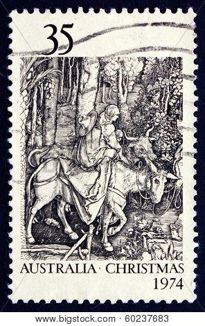 Postage Stamp Australia 1974 Flight Into Egypt, By Albrecht Durer