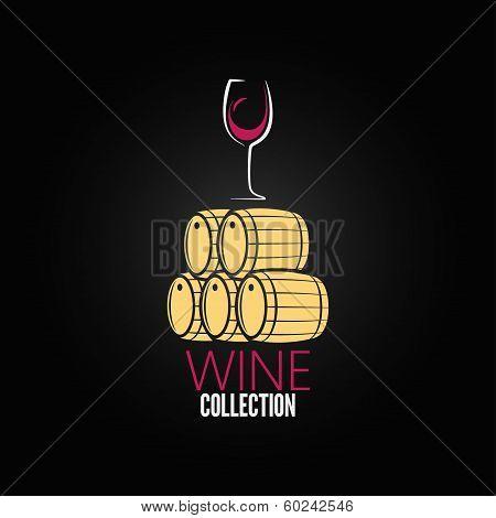 wine glass cellar barrel design background