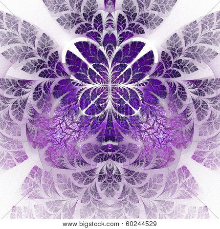 Fabulous fractal pattern in purple. Collection - tree foliage. Computer generated graphics. poster