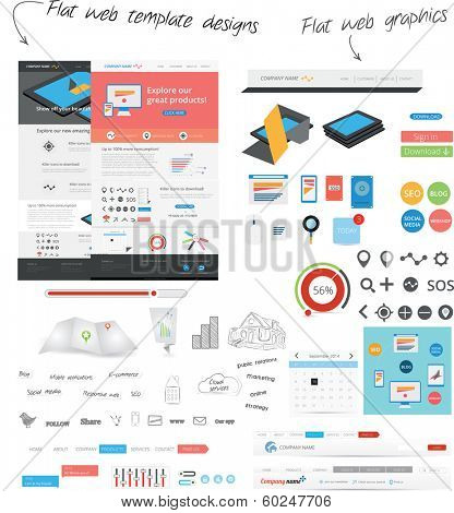 Flat web template design