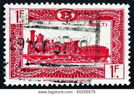 Postage Stamp Belgium 1949 Locomotive Type T1, 1862
