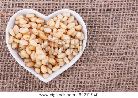 Pine Nuts In  Cup