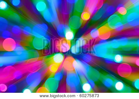 Abstract bokeh background in motion blur.