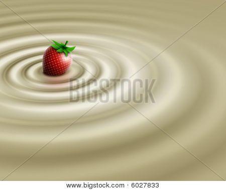 White chocolate whit strawberry