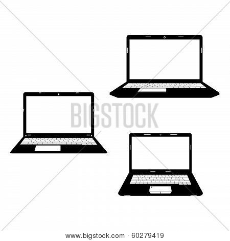 Laptops black icon.