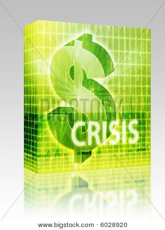 Crisis Finance Illustration Box Package