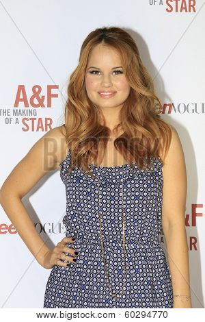 LOS ANGELES - FEB 22: Debby Ryan at the Abercrombie & Fitch 'The Making of a Star' Spring Campaign Party on February 22, 2014 in Los Angeles, CA