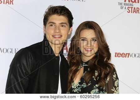 LOS ANGELES - FEB 22: Gregg Sulkin, Katie Stevens at the Abercrombie & Fitch 'The Making of a Star' Spring Campaign Party on February 22, 2014 in Los Angeles, CA