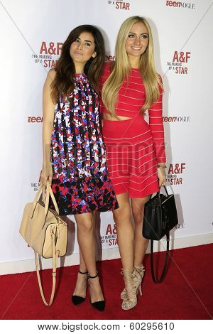 LOS ANGELES - FEB 22: Sazan Barzani, Sophie Elkus at the Abercrombie & Fitch 'The Making of a Star' Spring Campaign Party on February 22, 2014 in Los Angeles, CA