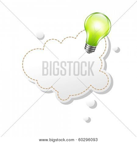 Speech Bubble And Lamp