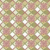 Patchwork seamless pattern texture background with decorative elements poster