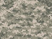 Vector illustration of modern camouflage pattern in pixels poster