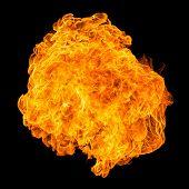 Fireball explosion black background - Propane Canon poster