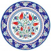 a pattern designed from traditional Ottoman motifs poster