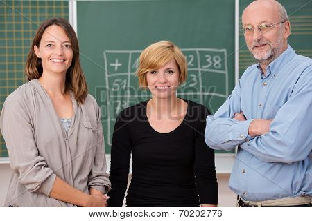 Group Of Three School Teachers