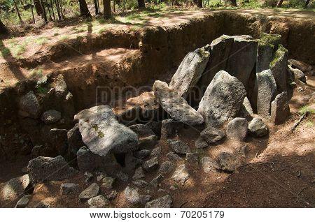 Dolmen Do Rapido Lateral Perspective. Esposende, Portugal