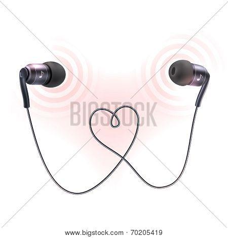 Headphones earplugs poster