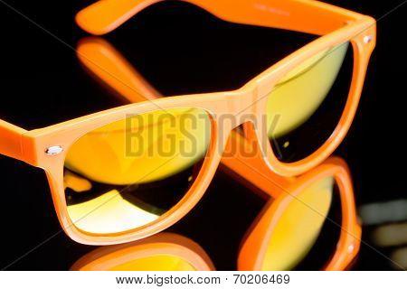 colored sunglasses.