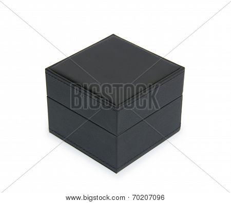 Black Gift Box Isolated On White