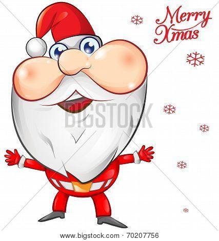 Santa Claus Cartoon On Background