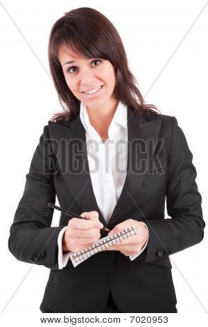 Business Woman Full Of Thoughts