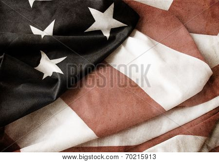Flag of USA grunge style