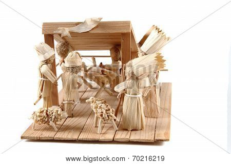 Bethlehem From Wood And Corn Leaves