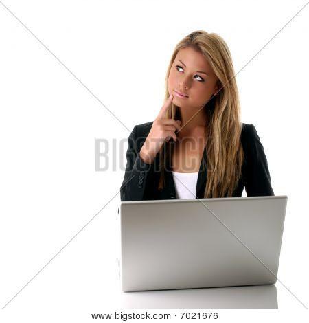 Girl Behind Laptop