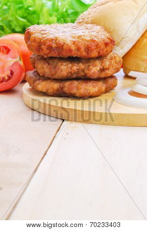 Homemade Burger,hamburger With Vegetable