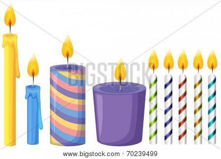 Illustration of many candle sticks