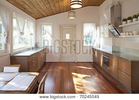 Interior Of A Roomy Dining Room