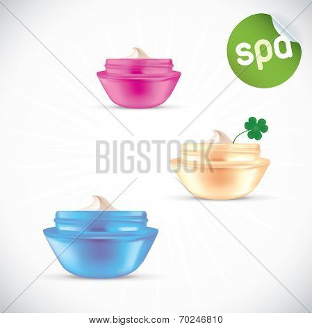 Set of Woman Cream Jars