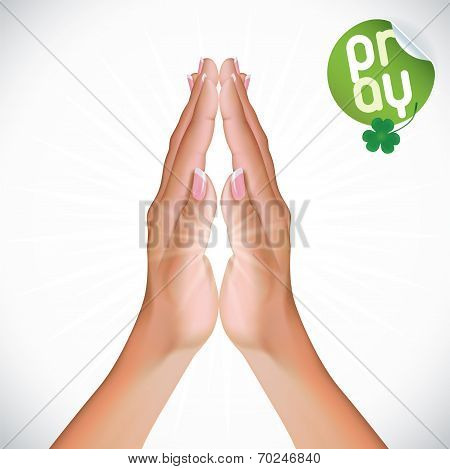 Female Praying Hands