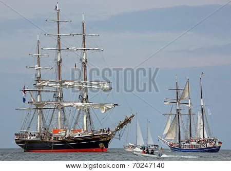 Old sailing ships at Hansesail 2014 (04)