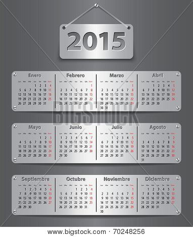 2015 Spanish Calendar