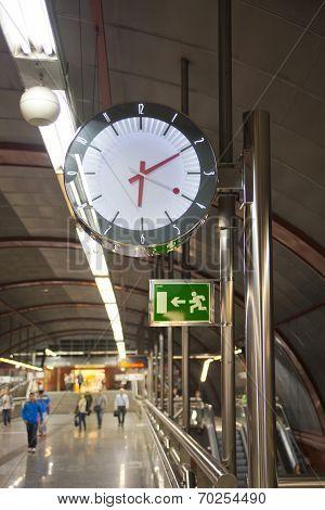 MADRID, SPAIN - MAY 28, 2014: Tube tunel, underground station