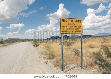 Dirt Road In Desert