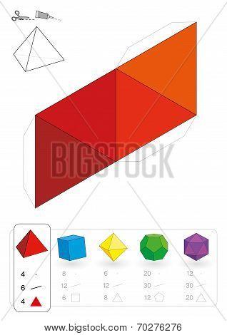Paper Model Tetrahedron