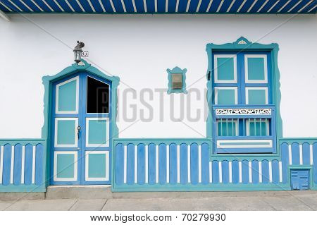 Colombia, Coffe Region, Street In Salento Village