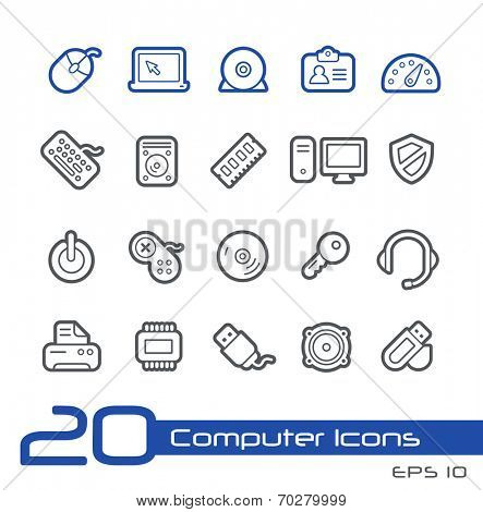 Computer Store Icons // Line Series