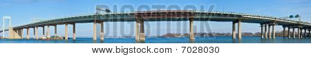 Throgs neck bridge panorama