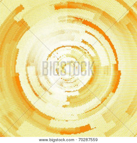 abstract halftone circle background with copy space, vector illustration. poster
