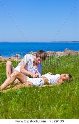 Couple Enjoying The Sun