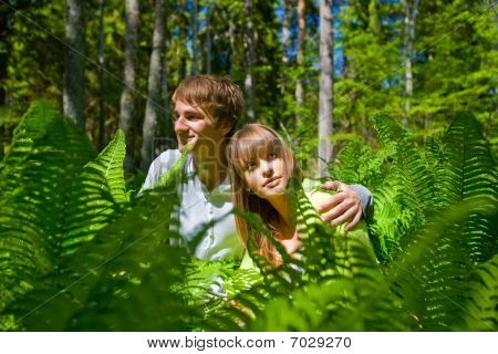 Lovers In Foliage