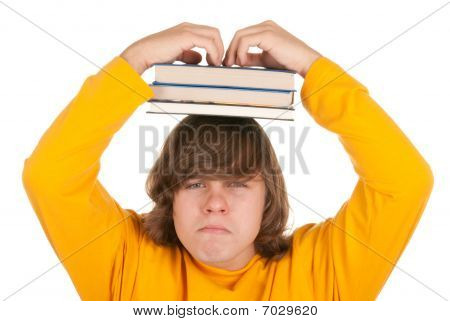 Dissatisfied Teenager With Books