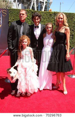 LOS ANGELES - AUG 16:  Kuma, Regan Burns, Francesca Capaldi, Blake Michael, G. Hannelius, Beth Littleford at the 2014 Creative Emmy Awards at Nokia Theater on August 16, 2014 in Los Angeles, CA