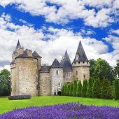 impressive medieval castles of France, Dordogne region poster