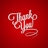 thank you vintage lettering background 10 eps poster